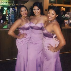 PURPLE/PINK BRIDESMAID DRESS IN A 12